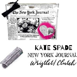 Kate Spade Newspaper Wristlet Clutch Classifieds